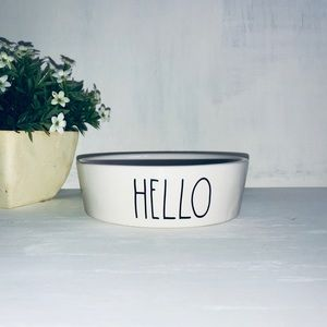 🆕 Rae Dunn HELLO Pet Dog Cat Food Bowl